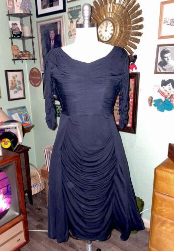 Original 1950's Ceil Chapman bustle dress **AS SEE