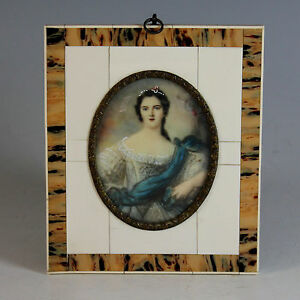Miniature-Portrait-of-Madame-Victoire-in-Beautiful-frame-19th-Century