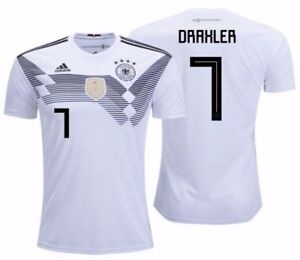 66680873d ADIDAS JULIAN DRAXLER GERMANY HOME JERSEY WORLD CUP 2018 White/Black ...