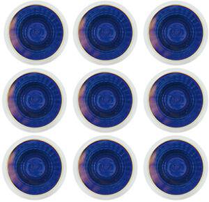 9x Heitronic Halogenreflektorlampe BLAU MR16 GU5,3 50 Watt Strahler Spot Birne