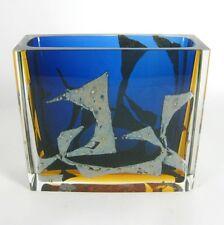 Exbor Glas Vase Pavel Hlava Design Czech Art Glass RARE ca. 14cm Cool