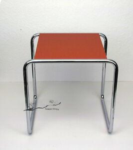 Bauhaus Dessau Marcel Breuer Hocker Tisch B 9a Rot