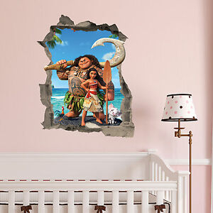 image is loading moana in wall kids bedroom vinyl decal