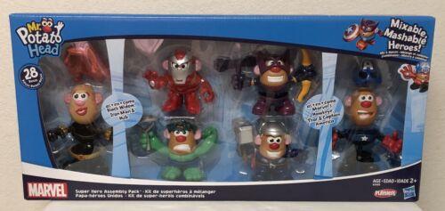 NEW Mr Potato Head Marvel Avengers 6 Character 28 Pieces Set Playskool Hasbro