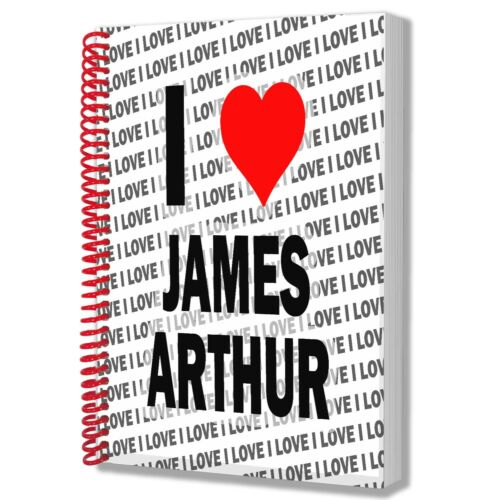 I Love James Arthur A5 Notebook Pad Diary Drawings Birthday Christmas Gift