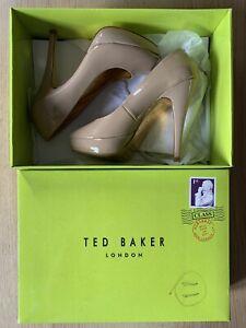 Ted-Baker-Nude-Patent-Peep-Toe-Platform-Shoes-Sandals-UK-5-EU-38-BNWB
