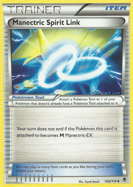 2x MANECTRIC SPIRIT LINK 100/119 XY PHANTOM FORCES POKEMON TRAINER CARD IN STOCK