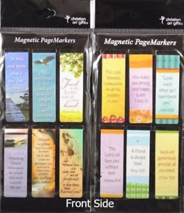Beautiful-Magnetic-Bookmarks-Set-of-12-Bible-Verses-Be-Still-and-Friendship-NEW
