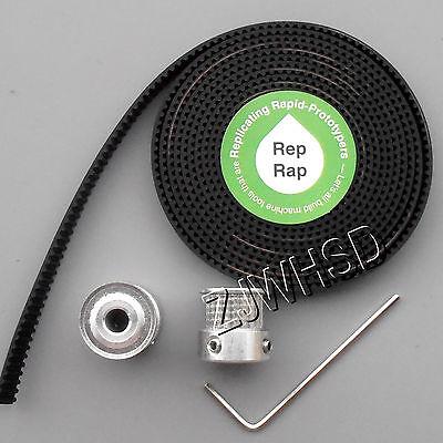 RepRap 2x GT2 20T 5mm Bore Pulleys & 2M Timing Belt Set for 3D printer Prusa CNC