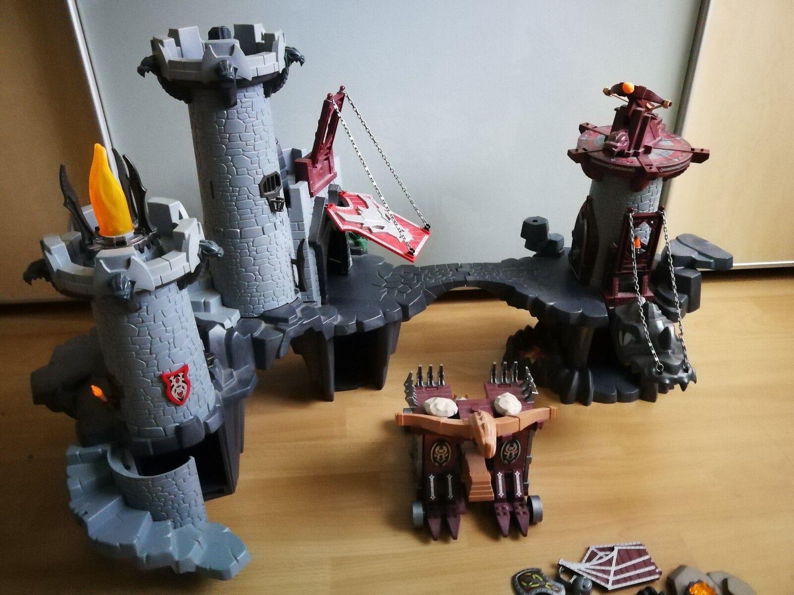 Playmobil Drachenburg & Drachenturm & Riesenschleuder-Katapult m. Gefängniszelle
