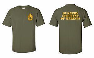 usmc gunnery sergeant of marines t shirt ebay