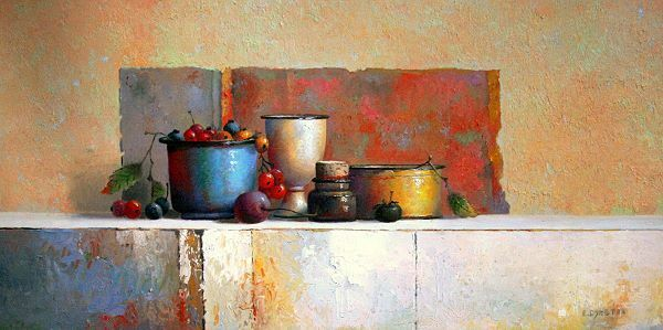 Evert Dijkstra   No Title IV Nature Morte Tableau Prêt 50x100