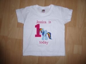 Image Is Loading Personalised Embroidered My Pony First 1st Birthday Boy
