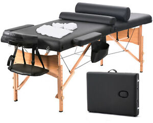 New-MassageTable-Massage-Bed-Spa-Bed-73-inch-Long-W-Sheet-Cradle-Bolsters-Hanger