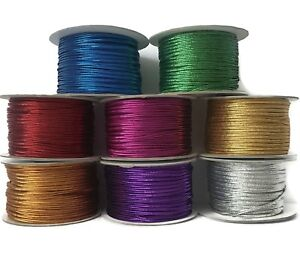 91m 100 YARDS SPOOL SILVER SPARKLE REXLACE PLASTIC LACING CRAFTS CYBERLOX