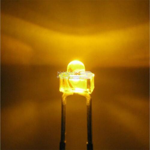 10 LED wasserklar 1,8mm GELB Miniatur LEDs superhell gelbe yellow jaune R