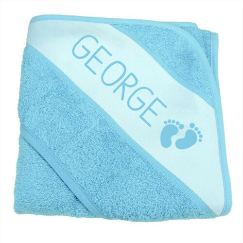 Personalised Hooded Soft Baby Bath Towel Cotton Baby Shower Gift Present