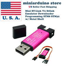 Mini ST-Link V2 Stlink Emulator Downloader Programming STM8 STM32 w/ Metal Shell