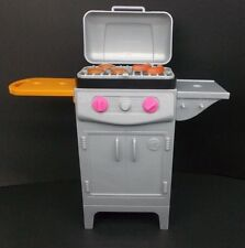 2017 BARBIE DOLL HOUSE FURNITURE BBQ GRILL ACCESSORY ONLY LID OPENS & CLOSES