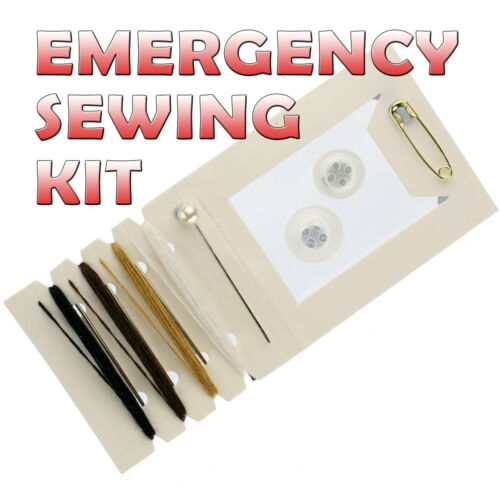 Mini Camping Emergency Sewing Kit Set Military Survival Tin Repair Mending