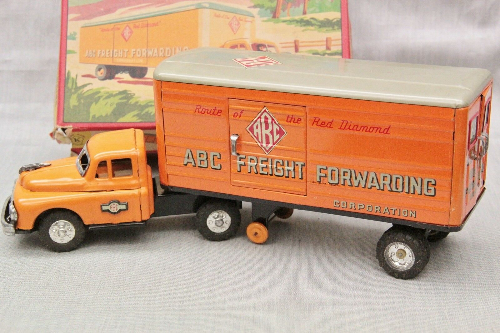 CAMION ABC FREIGHT FORWARDING CORP. KOKYU JAPON 1950s