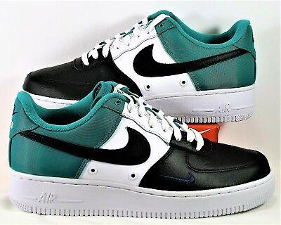 Nike Air Force 1 07 Lv8 Low Black Green Royal Blue White Sz 12