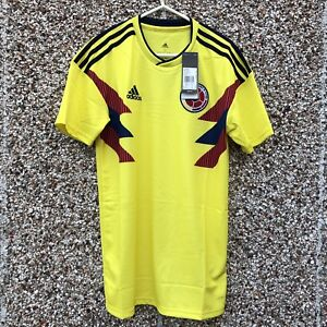 7742babcab8 Authentic Adidas Colombia World Cup 2018 2019 Home Football Shirt ...