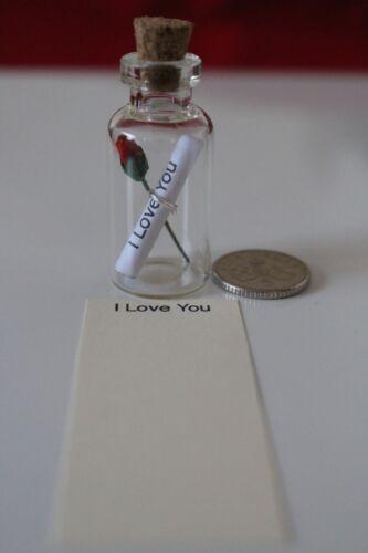 Boda Amor Cumpleaños Vaso Pequeño mensaje En Una Botella De Regalo de casarse. Madre