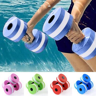 Foam Floating Dumbbell Water Aerobics Aquatic Barbell Swimming Equipment #UK