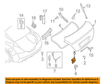 NISSAN OEM 04-08 Maxima Trunk-Lock or Actuator Latch Release 846307Y000