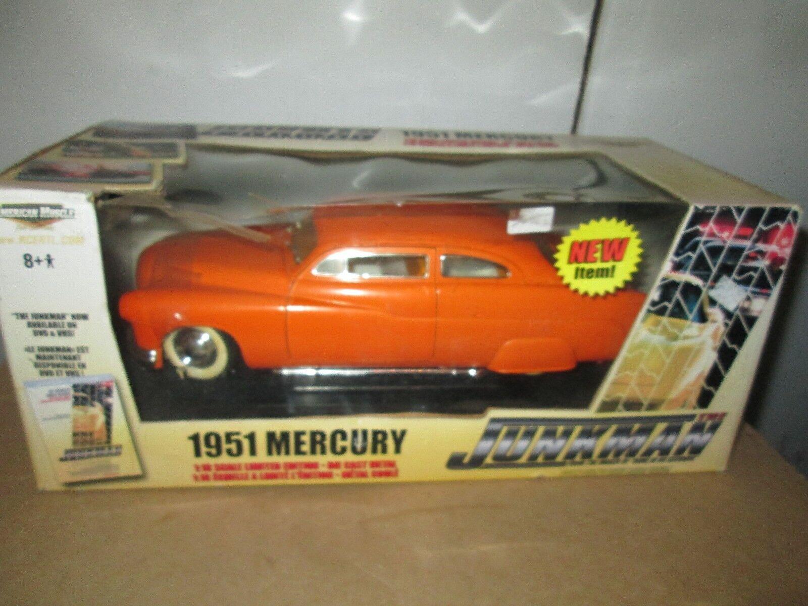 Ertl 1 18 American Muscle 1951 Mercury orange  Junk Man  the car from the movie