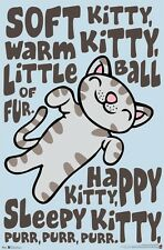 THE BIG BANG THEORY ~ SOFT KITTY 22x34 TV POSTER  Warm Ball Fur Happy Purr Cat