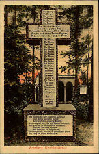 ARENBERG Kirchhofskreuz kolorierte AK um 1910/20 Kirche Verlag Moonen in Essen