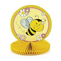 Bee Centerpiece Spring Party Decoration Kids Birthday 1st Yellow & Black Decor