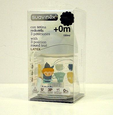 Straightforward Suavinex Biberon 3 Posizioni Tett 0m Rotonda Lattice Baby Bottle Mod.2 150 Ml
