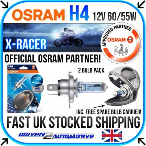 2x OSRAM H4 X-RACER Harley FXSTBI 1450 Softail Night Train 2004-2005