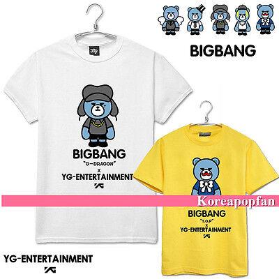 Bigbang G-dragon Taeyang T.o.p daesung seungri MADE 100%COTTON T-shirt kpop New