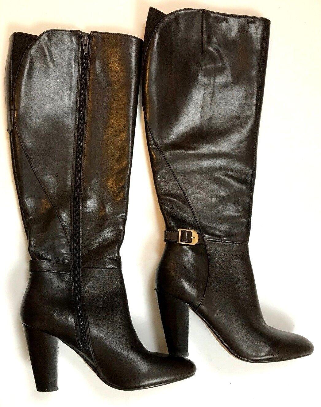Marc Fisher Dark Burgundy Leather Knee High Women's Boot Size 7.5 M