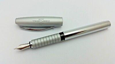 Faber Castell Loom Gunmetal Shiny Fountain Pen Mint Nib Size Variation Best Sale