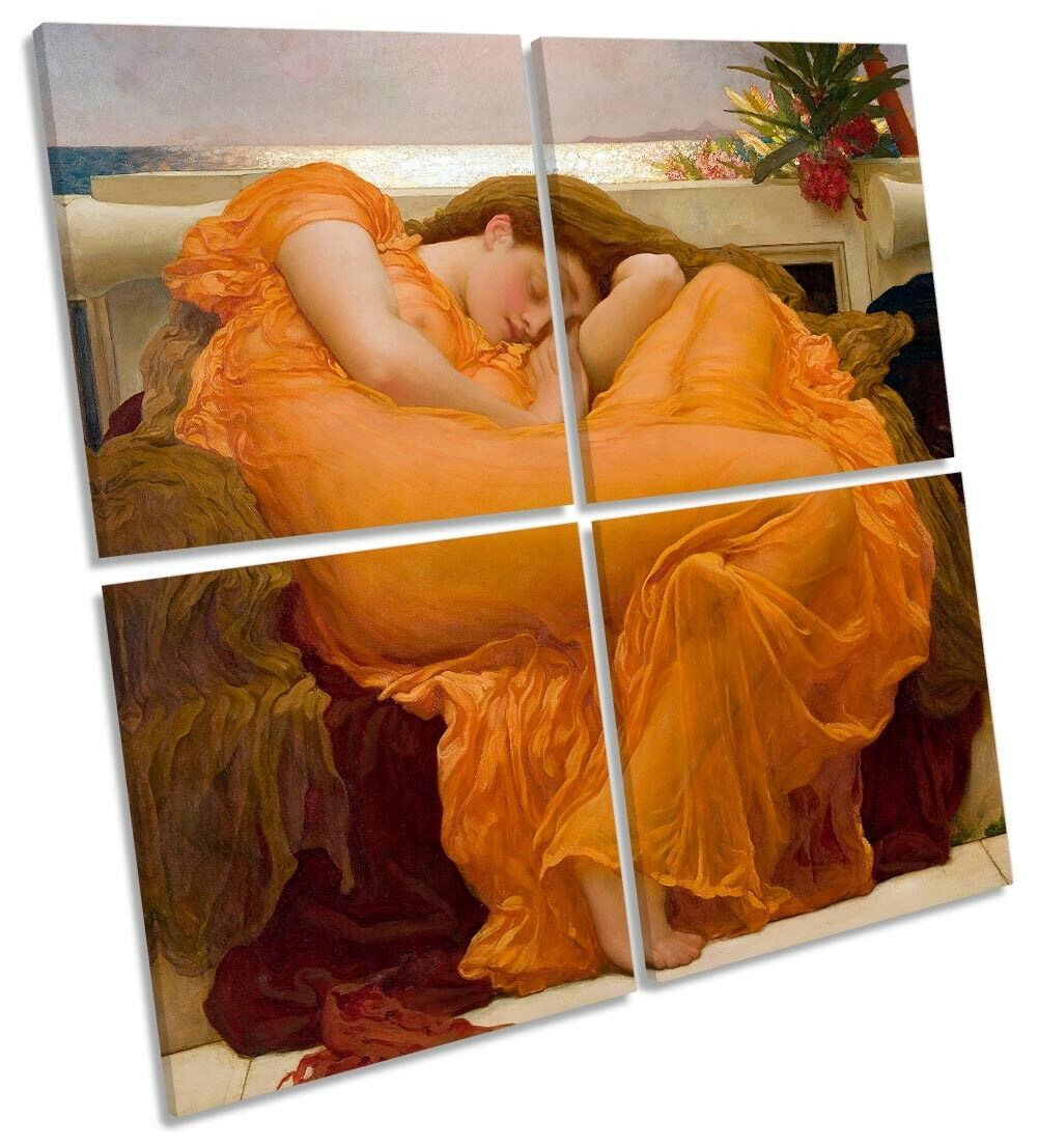 Froteric Leighton Flaming June MULTI CANVAS WALL ART Square
