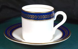 Coalport-Blue-Wheat-Coffee-Cans-amp-Saucers-Excellent-Condition