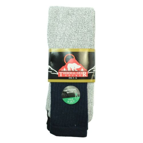 3-12 Pairs THERMAL GEAR Socks Fits 9-15 Winter Snow Outdoor Hiking Socks For Men