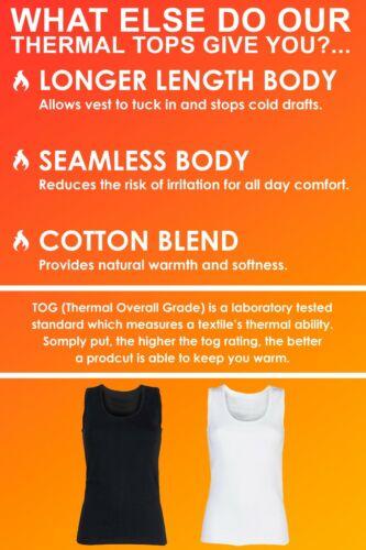 Ladies Winter Warm Cotton Thermal Underwear Sleeveless Vest Heat Holders