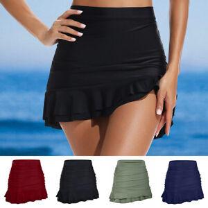 online store 2f16a e9ead Details zu Damen Bikini Rock Baderock Bottoms Rock Sommer Schwimmanzug  Strand Boardshorts