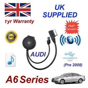 For-AUDI-A6-Bluetooth-amp-USB-Cable-With-Aux-USB-Power-adapter-charging-gen-08