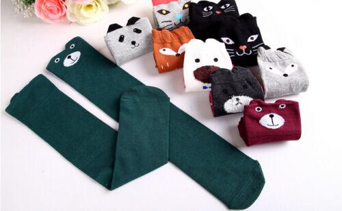Baby Kids Girls Knee High Socks Tights Cartoon Animal Leg Warmer Stockings Hot