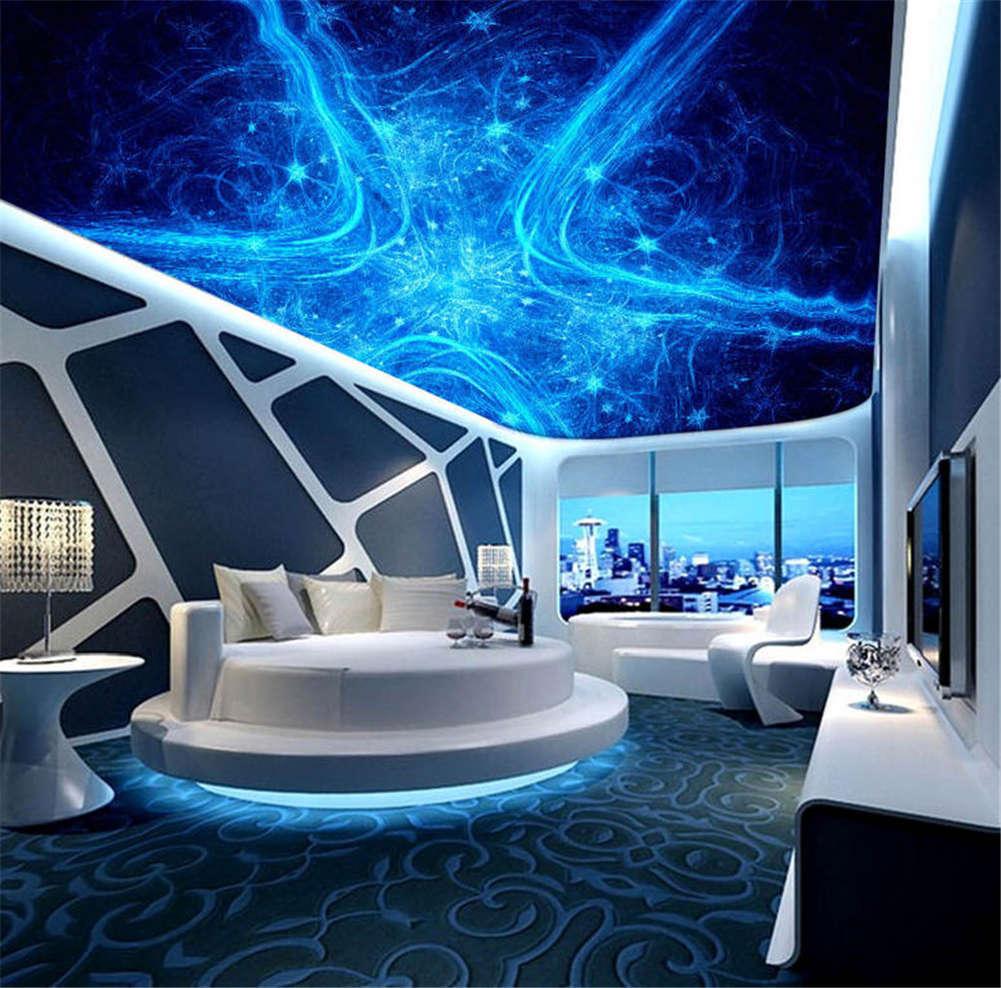 Azure Profound Star 3D Ceiling Mural Full Wall Photo Wallpaper Print Home Decor