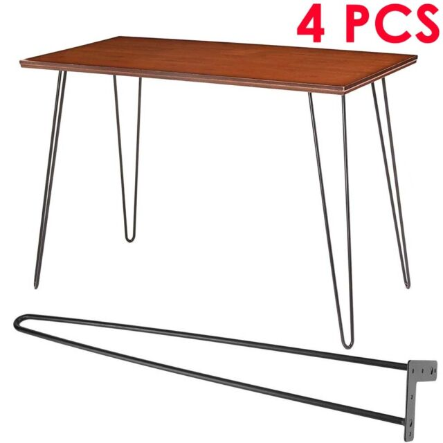 Set Of 4 Metal Table Furniture Legs Dining Bench Office Desk Chair Uk