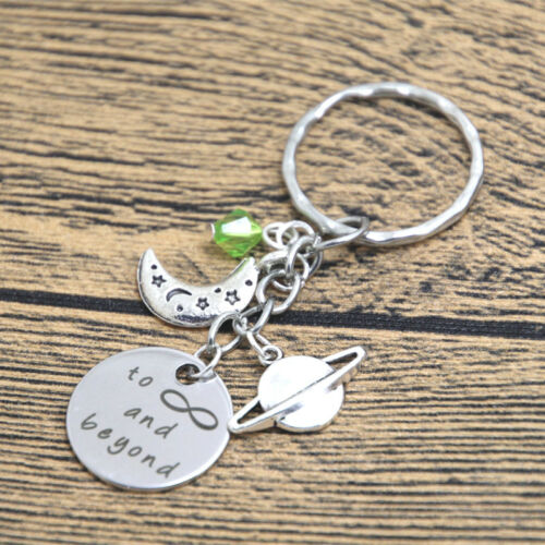 Outer space Lightyear keyring To Infinity and Beyond Planet moon crystal