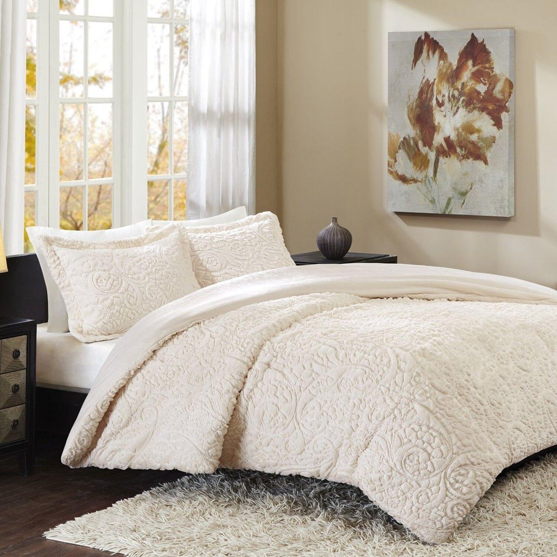Madison Park Norfolk King Size Bed Comforter Set - Ivory, Paisley – 3 Pieces ...